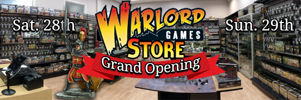 Warlord Store Opens This weekend 28th Jan.